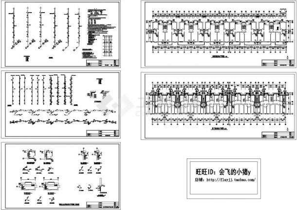 某7层(1梯2户5单元)住宅楼给排水施工图纸(标注明细)( 长83.3米* 宽13.4米 )-图一