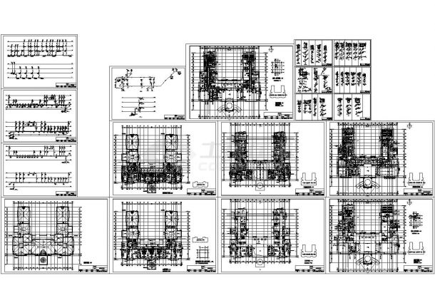 某三层会所给排水施工CAD图纸-图一