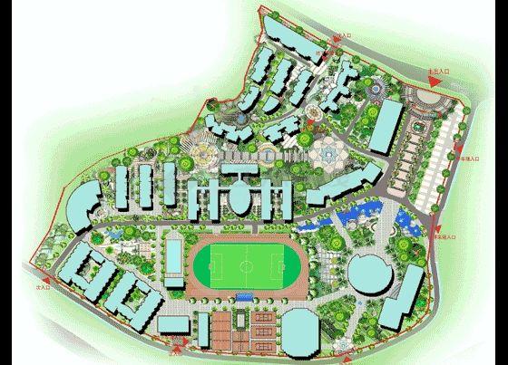 校园景观规划设计图-图一