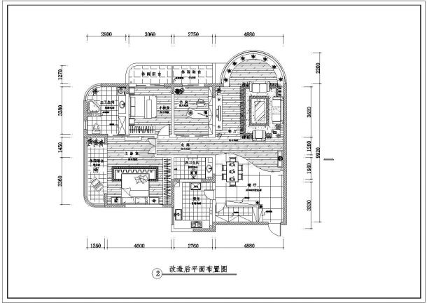 某地区大型简中风格的室内装修图纸-图一