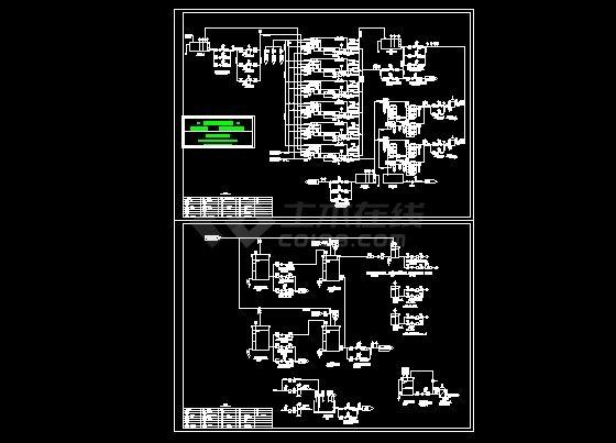 CMF+RO中水回用系统流程图纸-图一