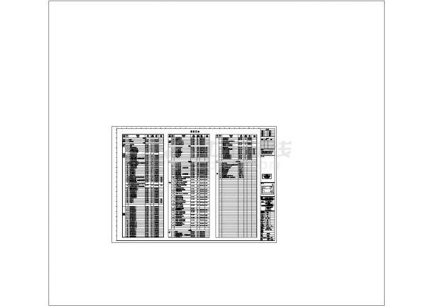 [广东]某大型商业建筑电气施工cad图-图一