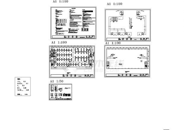某生产车间及办公室暖通设计方案图-图一