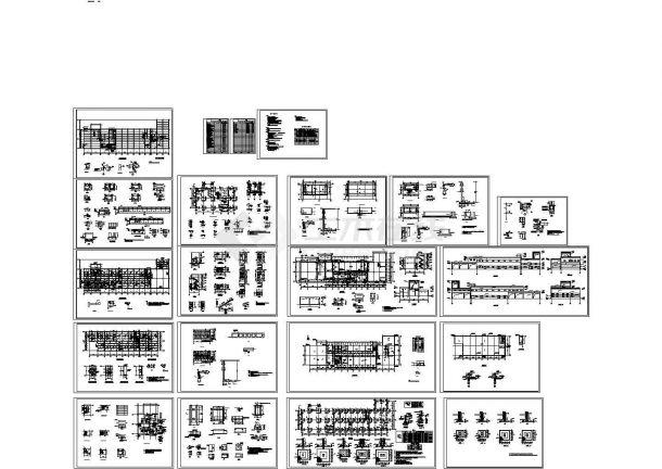 二层联合厂房框架结构建筑施工图(含设计说明)-图一