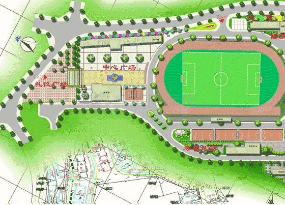 某校园景观规划设计图-图一