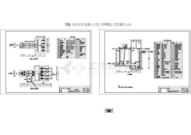 [湖北]某大型污水处理厂水处理工艺设计cad全套图(标注详细)-图一