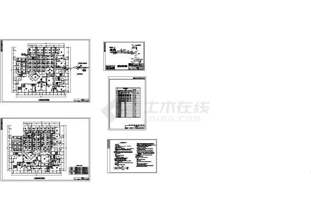 某地足浴场空调88必发手机版登录设计图(含空调工程设计与施工说明)-图一