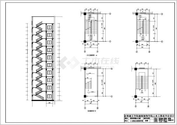 高层办公楼建筑毕业设计CAD图纸-图一