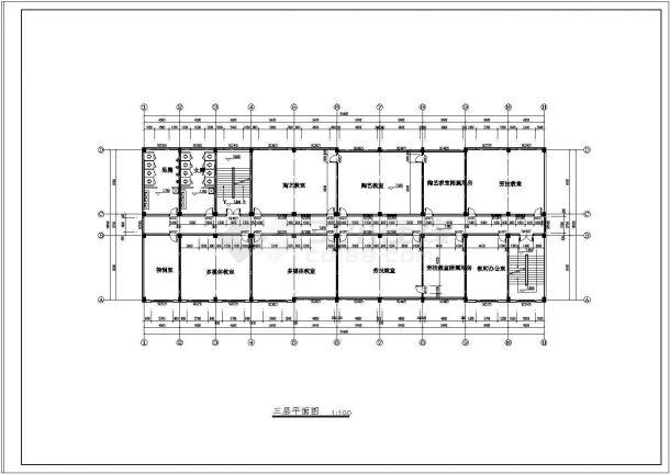 某地区五层框架教学楼施工图及计算书(本科毕业设计)-图二