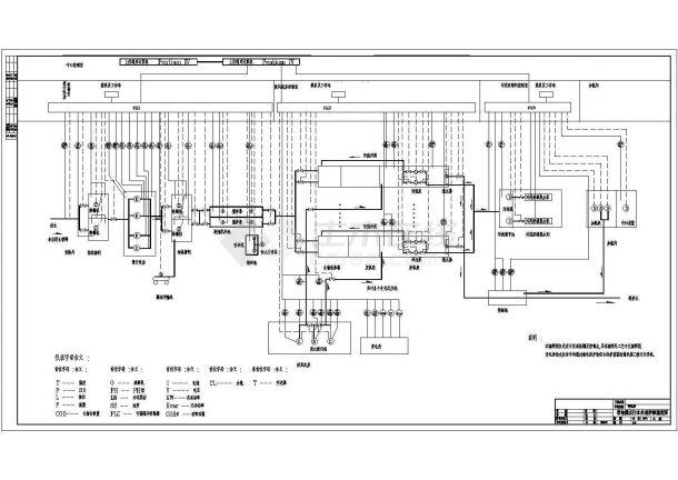 某变电所带检测点污水处理控制流程图-图一