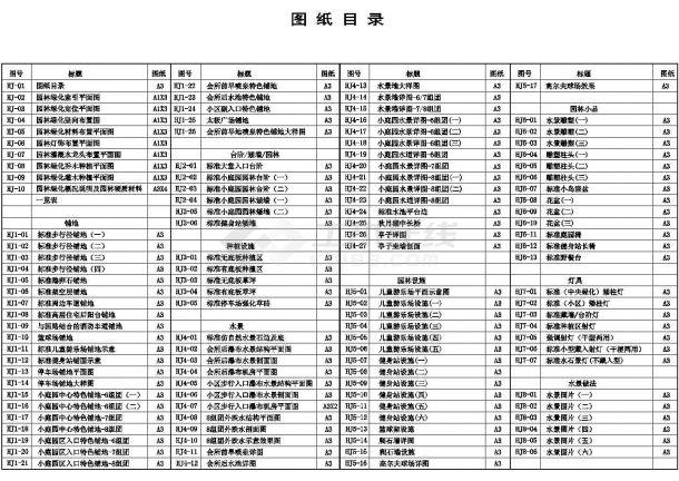 杭州朝晖现代城全套景观设计施工图(0207香港何显毅建筑师楼)-图一