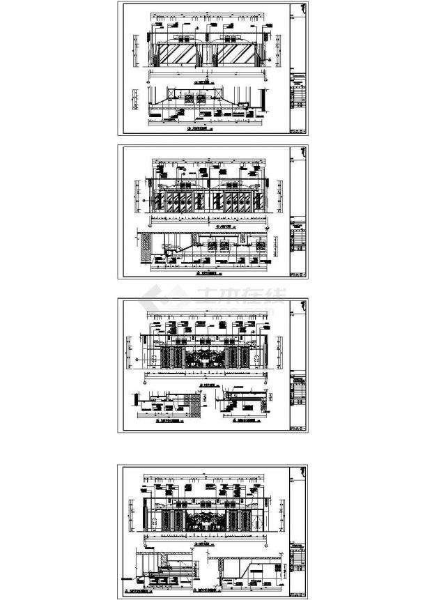 某豪华大餐厅室内装修设计cad施工详图(大院设计)-图一