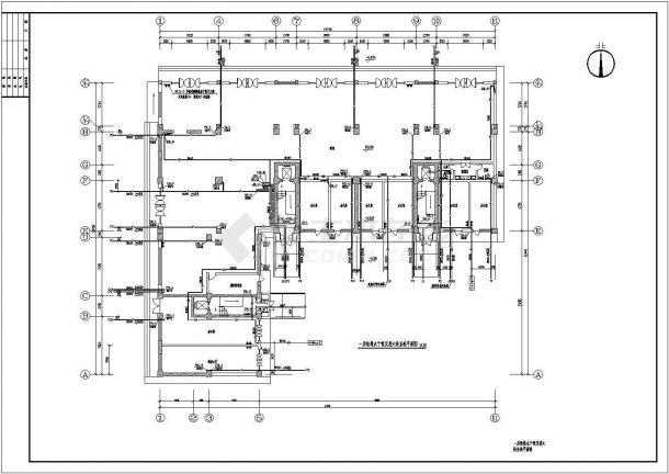 地上十一层商住楼建筑给水排水设计cad全套施工图-图一