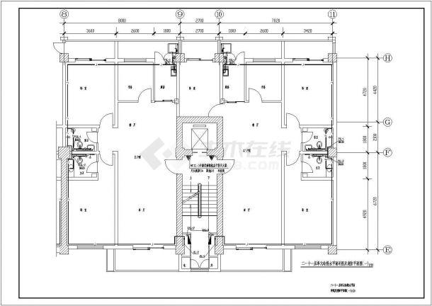 地上十一层商住楼建筑给水排水设计cad全套施工图-图二
