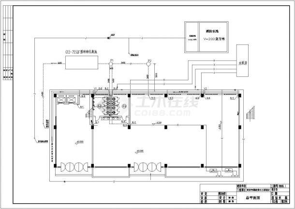 某综合大楼建筑给水排水设计工程cad施工图纸-图一