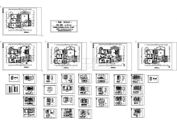 某私人住宅室内装修设计cad全套施工图(大院设计,33张图)-图一