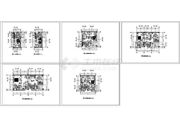 某星级酒店客房平面设计cad方案图(大院设计)-图一