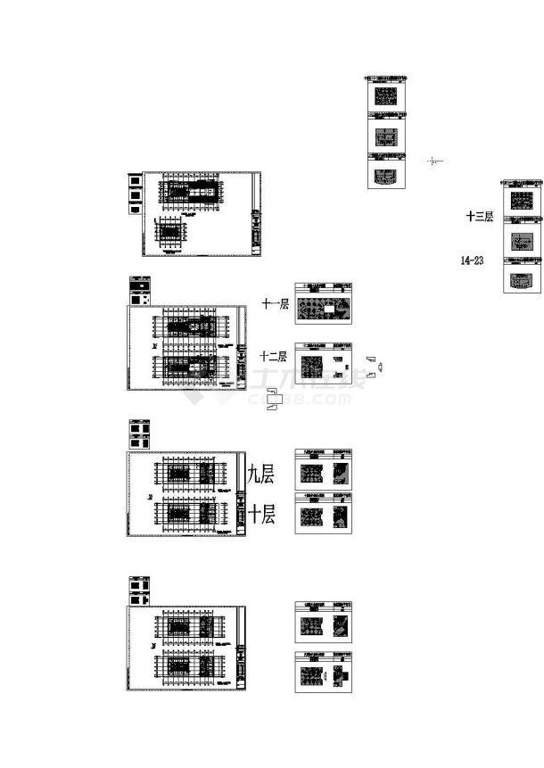 【上海】某国际设计中心给排水设计施工CAD图-图一