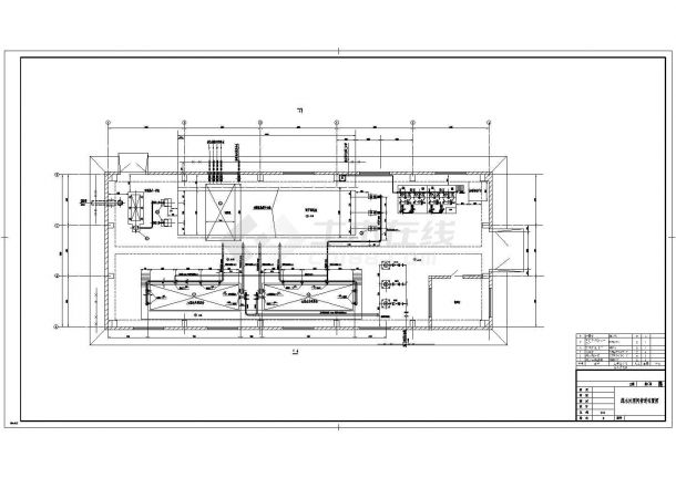 宁夏某电厂含煤废水处理系统给排水图纸-图一