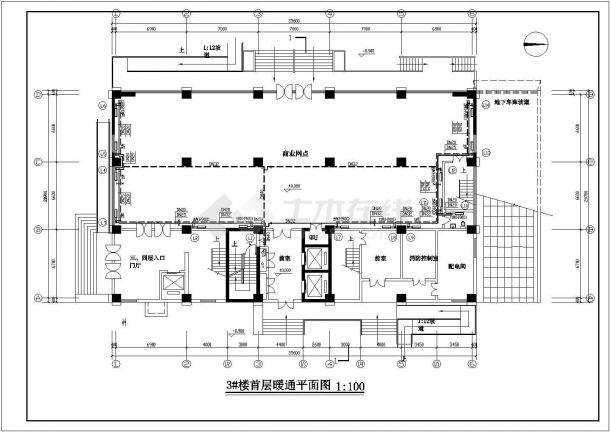 某高层住宅楼采暖防排烟设计施工图节点图-图一