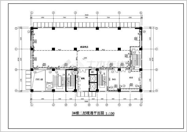 某高层住宅楼采暖防排烟设计施工图节点图-图二