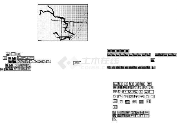 山西河道支流污水排水管道施工设计cad图-图一