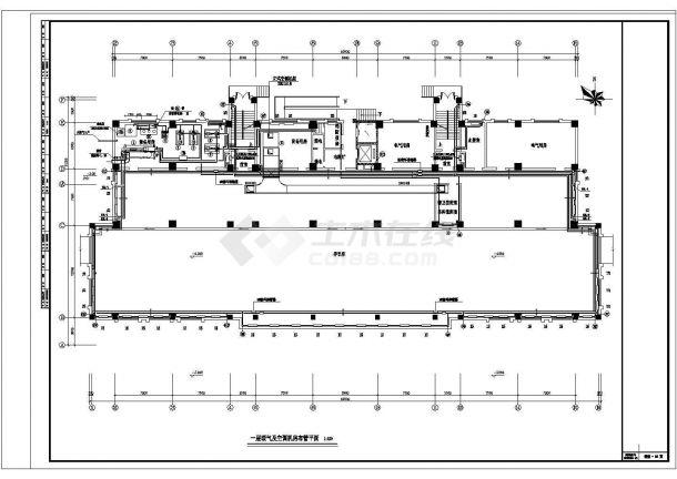 某办公楼溴化锂空调详细施工方案详情图纸-图一