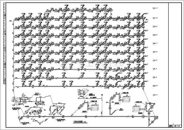 某办公楼溴化锂空调详细施工方案详情图纸-图二