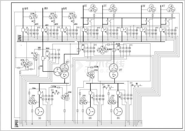 小水电站同期原理典型设计-图一