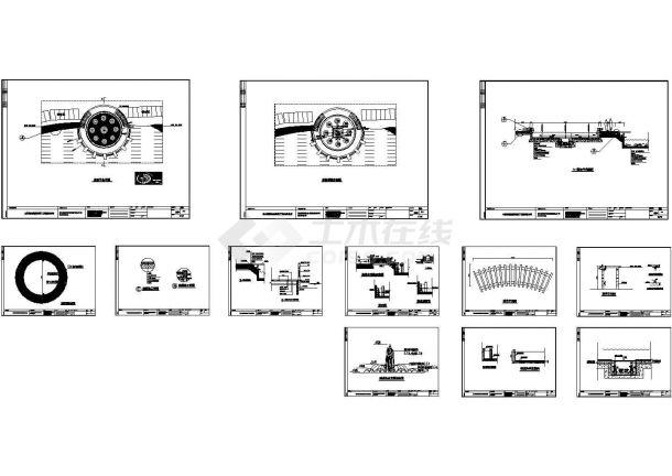 某地亲水平台喷泉施工设计图纸-图一