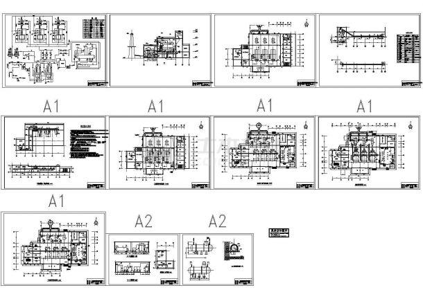 某地15万平米采暖锅炉房工艺设计图纸-图一