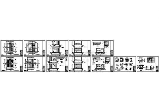[广东]0.5万吨每天小型水厂全套毕业设计图纸-图一