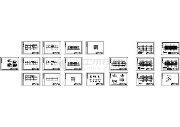 某6500平方米五层框架结构学院教学楼毕业设计图纸(含建筑结构图纸计算书)-图一