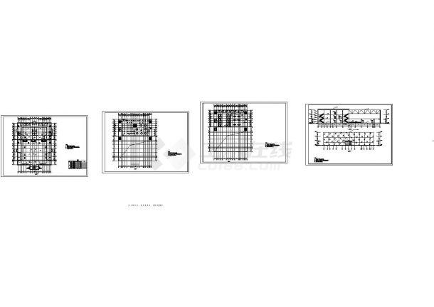 休闲娱乐3层全套中心建筑结构毕业设计CAD图纸(5000多平,含计算书)-图一