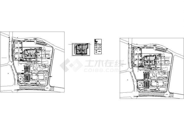 仁川妇幼保健院迁建工程--基坑围护CAD施工图纸-图一