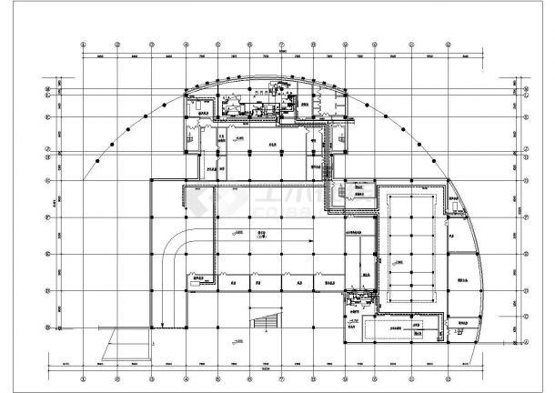 某住宅地下室中央空调全套cad设计施工图纸-图一