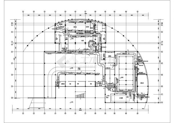 某住宅地下室中央空调全套cad设计施工图纸-图二