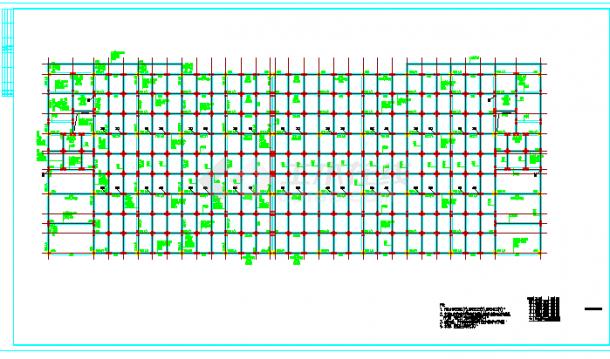 混凝土厂房结构施工图纸(标注详细)-图一
