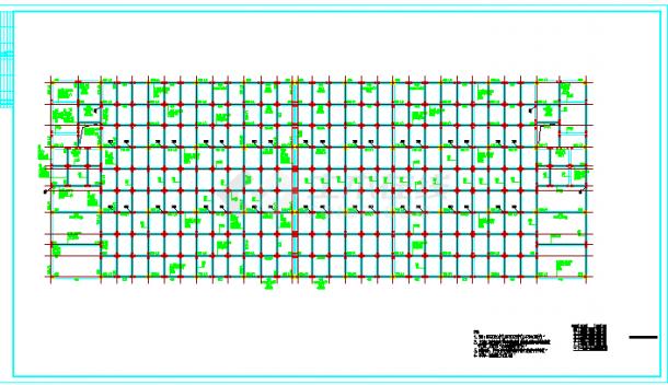 混凝土厂房结构施工图纸(标注详细)-图二