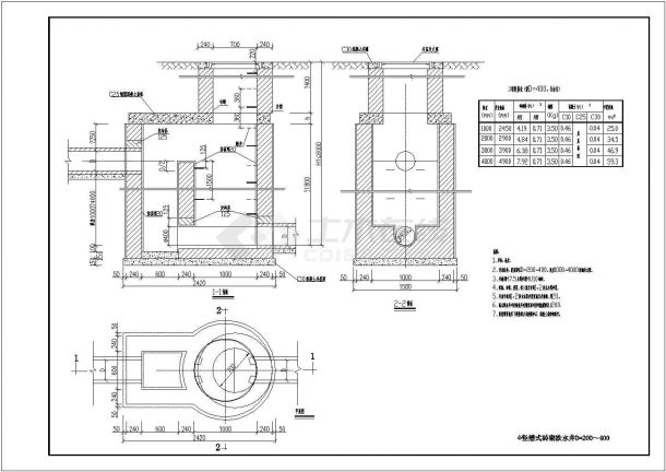 某工程常用雨污水检查井标准图cad版-图一