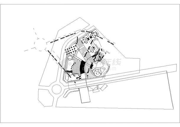 某市中心区园林规划设计CAD图纸-图一