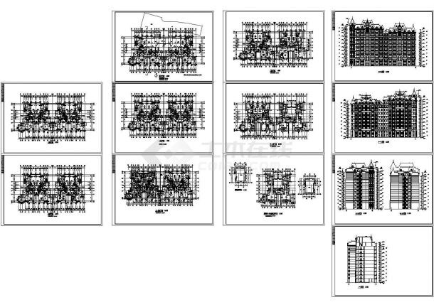 某小高层住宅楼建筑设计施工图-图一