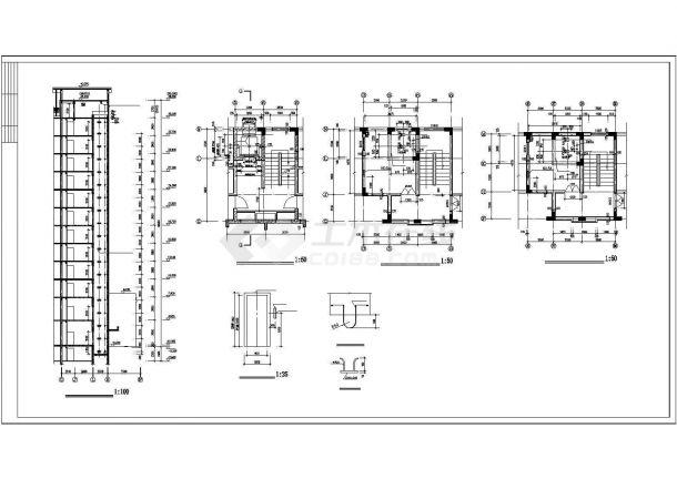 电梯间及管道井机房平面装修cad施工图-图一