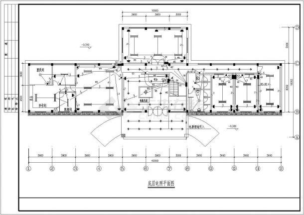 某干部培训中心电气cad施工平面图纸全套-图二