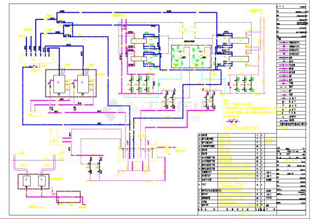 某小区供热锅炉房cad施工设计图纸-图一