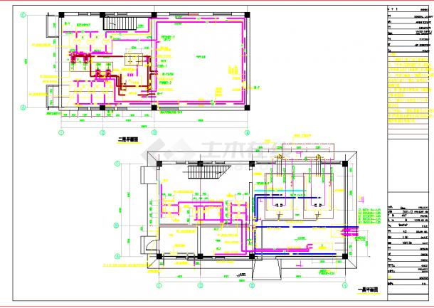 某小区供热锅炉房cad施工设计图纸-图二