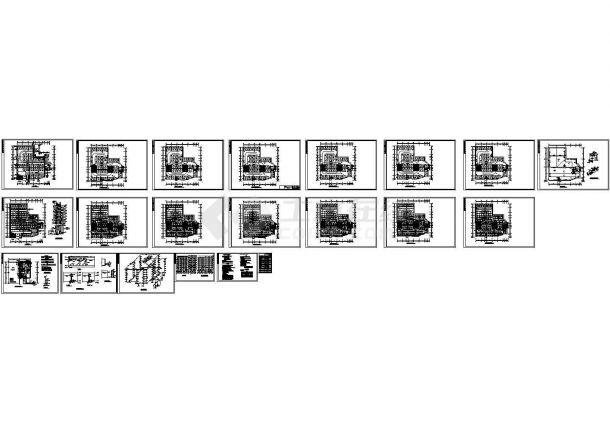 七层停车库给排水和消防图纸CAD图-图一