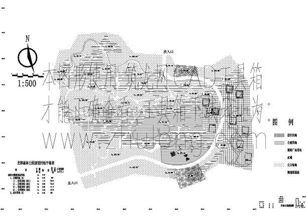 宣威市龙津森林公园景观园林规划设计cad施工图(含效果图,含水电设计)-图二