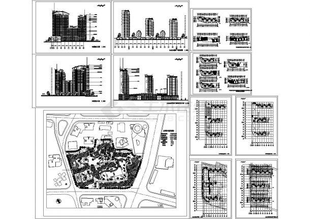 某高层住宅小区(143936平方米)设计cad建筑施工图(含技术经济指标)-图一