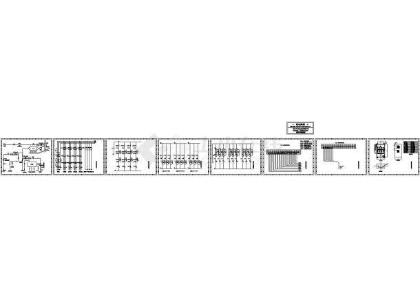 某电收尘喷水设计cad电气施工图纸(含窑头废气喷水电气控制原理图)-图一